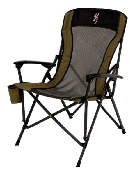 Alps Outdoorz Browning Fireside Camping Chair, Khaki/Pink Logo
