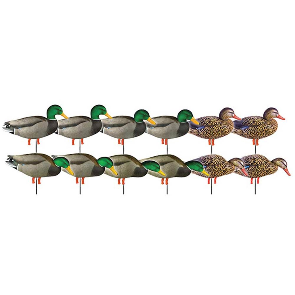 Avery GHG Pro-Grade Full-Body Field Mallard - 12 Pack With 12-Slot Decoy Bag
