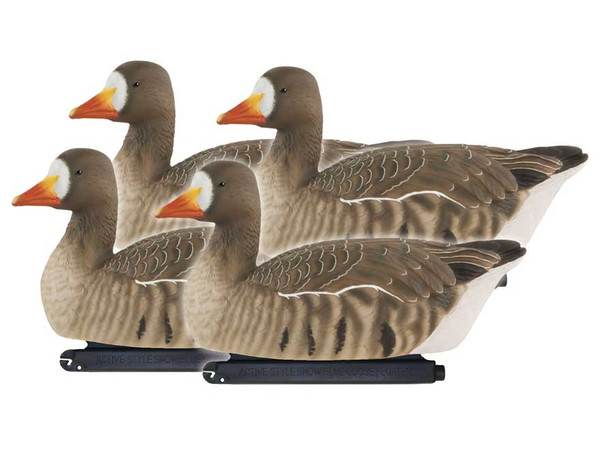 Avery GHG Pro-Grade Active Specklebelly Floating Goose Decoys, 4 Pack