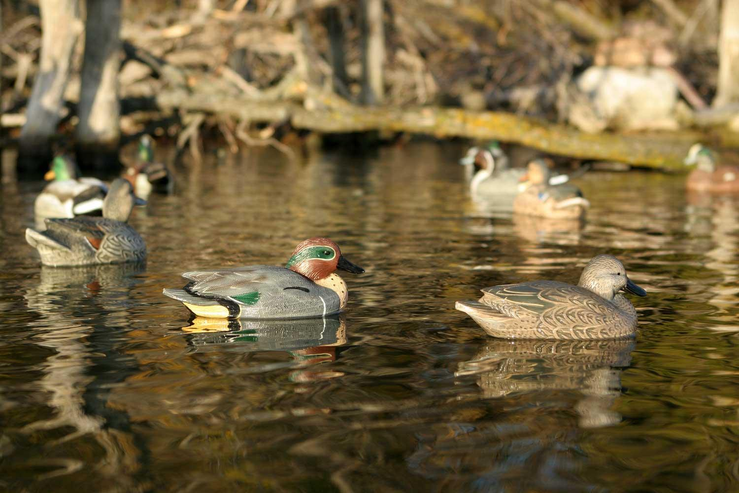 Avery GHG Life-Sized Floating Green-Winged Teal Decoys, 6 Pack_4.jpg