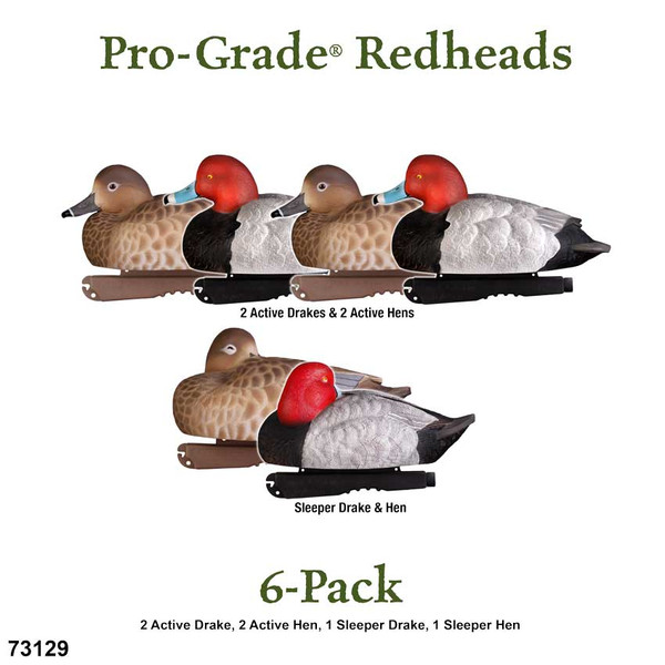 Avery GHG Pro-Grade Floating Redheads, 6 Pack