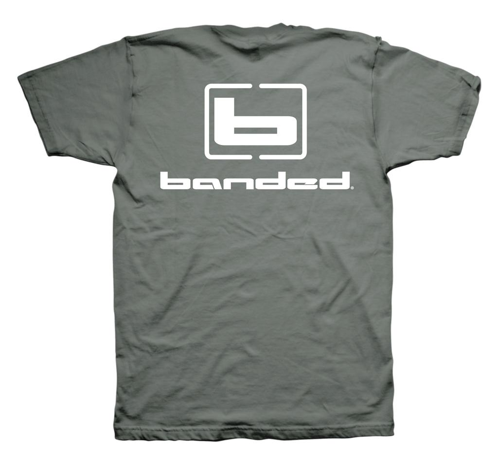 Banded Signature Short Sleeve Tee - Charcoal