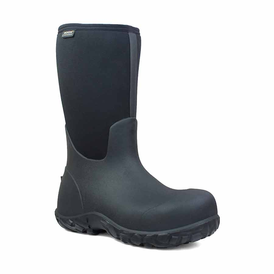 BOGS Workman Soft Toe Tall Insulated Work Boot, Black