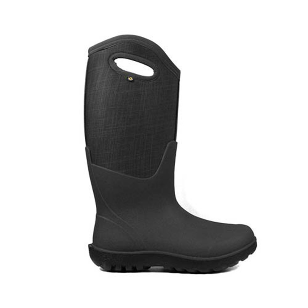 BOGS Neo-Classic Linen Tall Farm Boot, Black