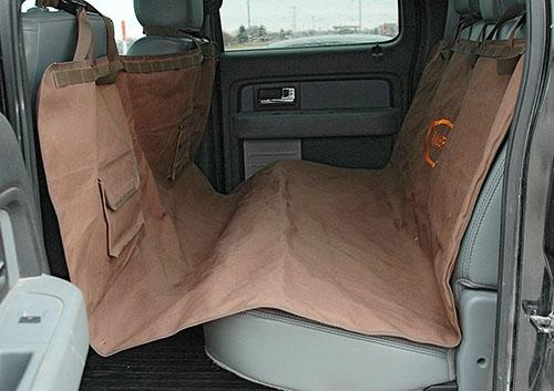 Mud River Dog Hammock Rear Bench Seat Cover, Brown