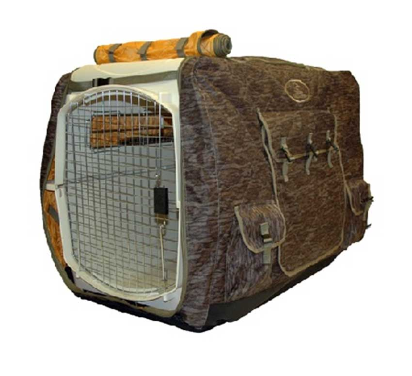 Mud River Ducks Unlimited Insulated Kennel Cover, Shadow Grass Blades_1.jpg