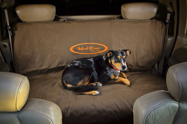 Mud River Brown Two Barrel Double Seat Cover, Regular