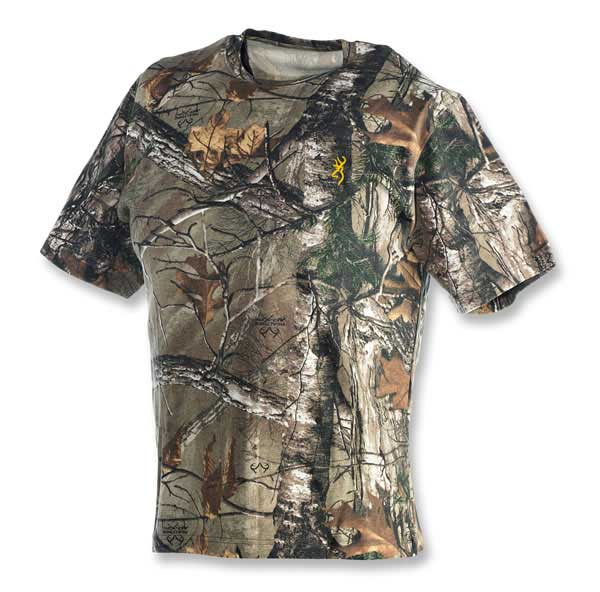 Browning Wasatch Short Sleeve T-Shirt in Realtree Xtra