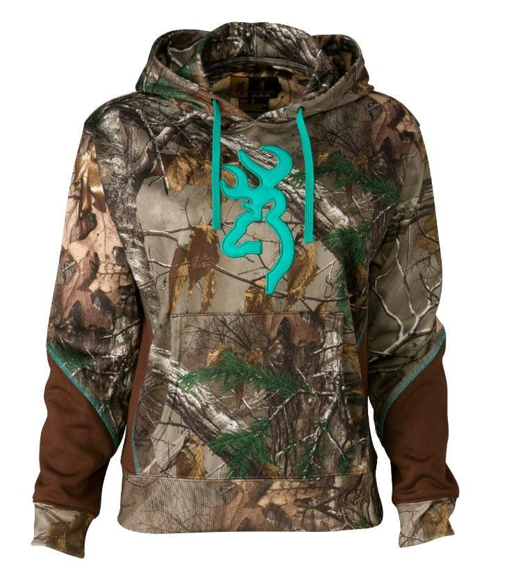 Browning Two Tone II Hoodie For Her, Realtree Xtra