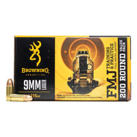Browning 9MM Luger Full Metal Jacket 115 Grain - 200 Rounds