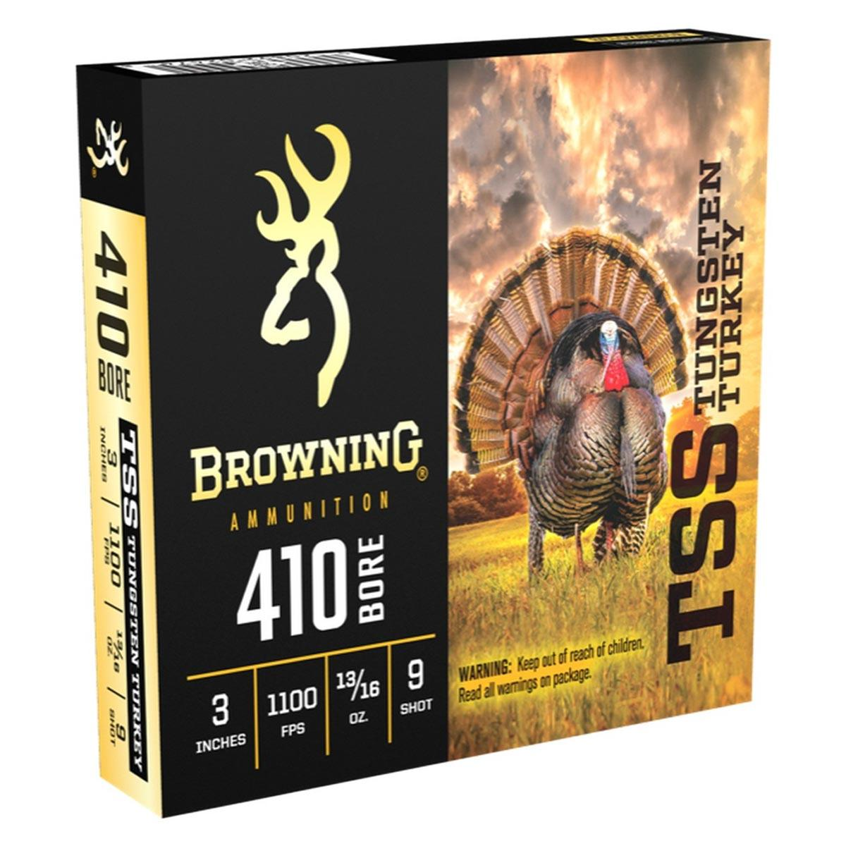 "Browning TSS Tungsten Turkey Loads, 410 Gauge 3"" 13/16OZ 1100FPS, Shot Size 9"