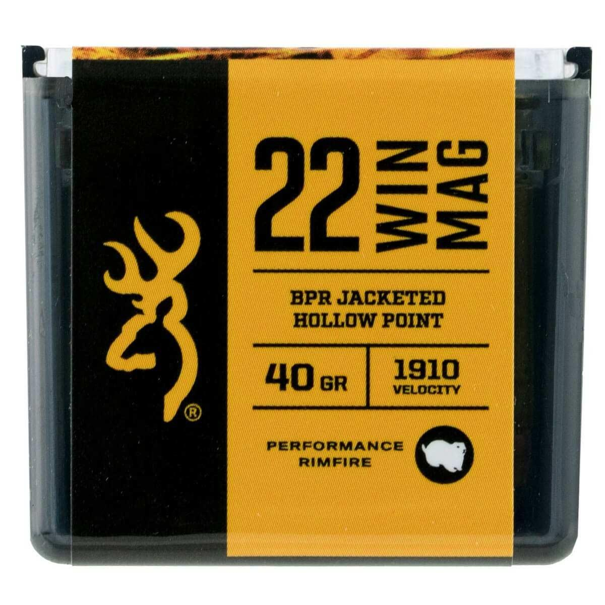 Browning Performance Rimfire Ammunition 22 Win Mag 40 Grain 1910FPS Jacketed Hollow Points, 50 Rounds_1.jpg