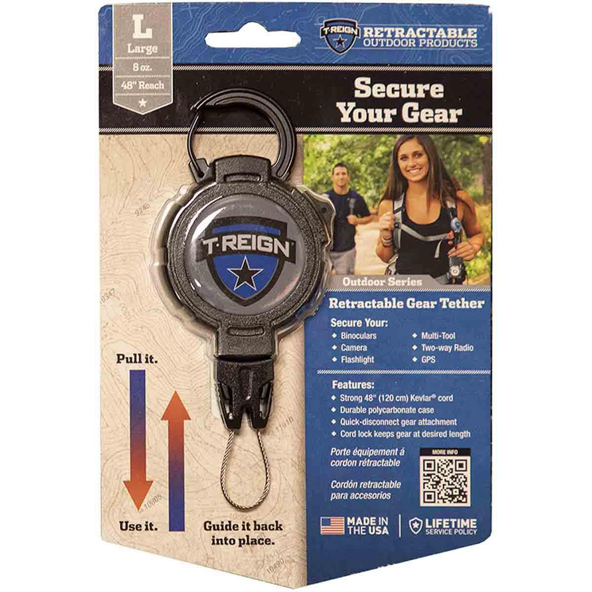 T-Reign Outdoor Series Retractable Gear Tether, Large