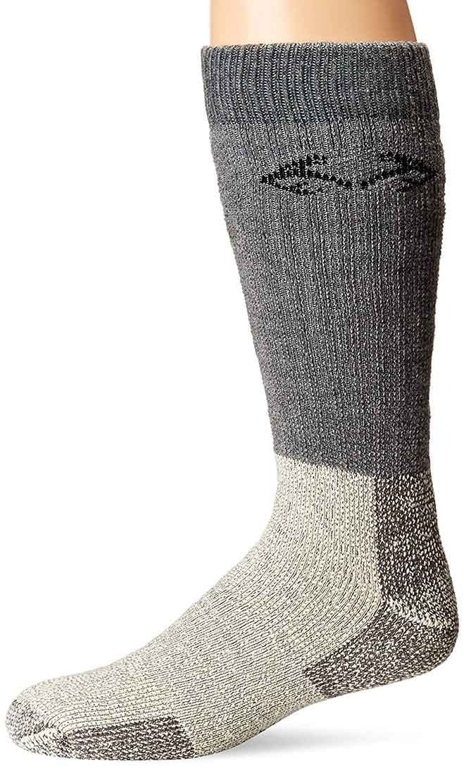 RealTree Big Bertha Extra Heavyweight Merino Wool Socks, Grey/Natural