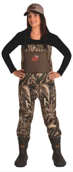 Caddis Women's Waterfowl Neoprene Wading System with Bootfoot, Realtree Max 5_1.jpg