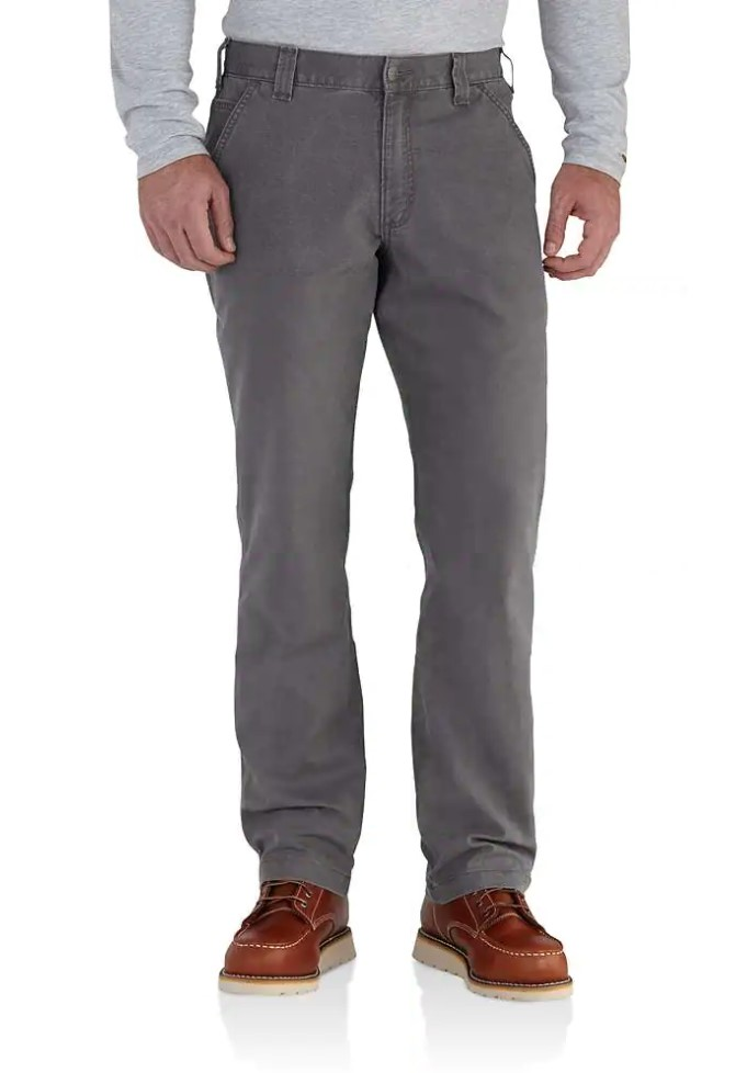 Carhartt Men's Rugged Flex Rigby Dungaree - Gravel
