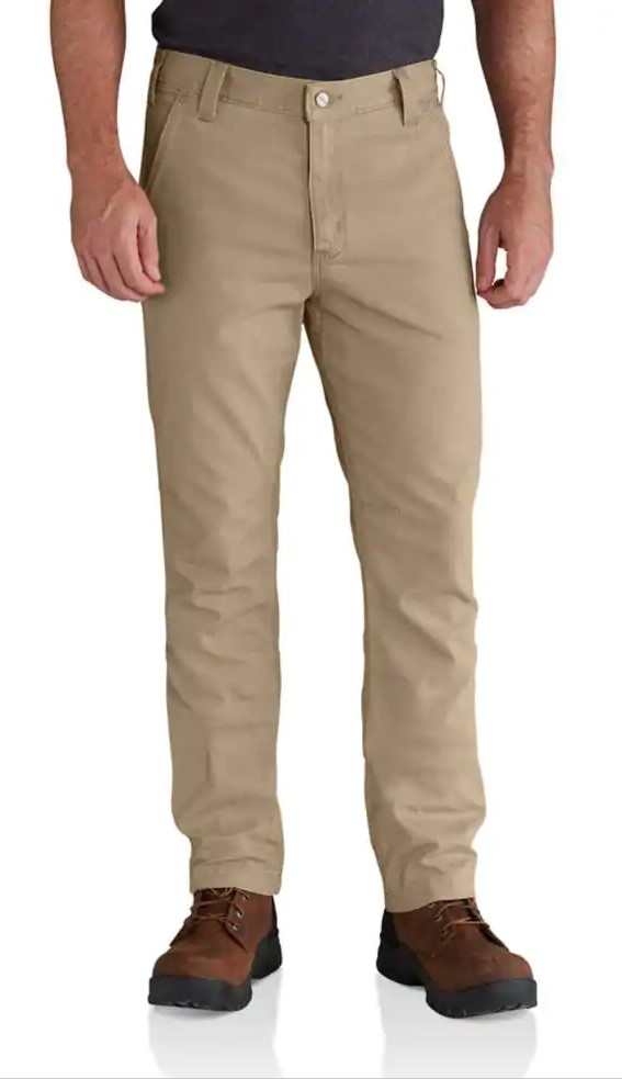 Carhartt Men's Rugged Flex Rigby Straight Fit Pant - Dark Khaki