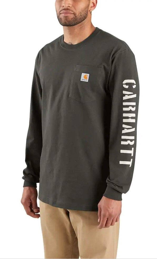 Carhartt Workwear Sleeve Graphic LS Shirt Peat