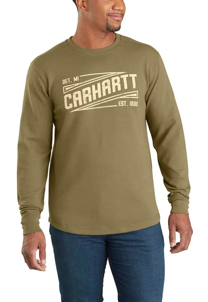 Carhartt Tilden Graphic Long Sleeve Shirt - Military Olive