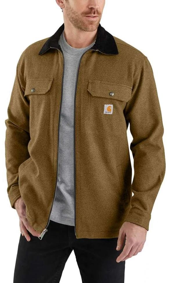 Carhartt Rain Defender Pawnee Shirt Jac - Oiled Walnut