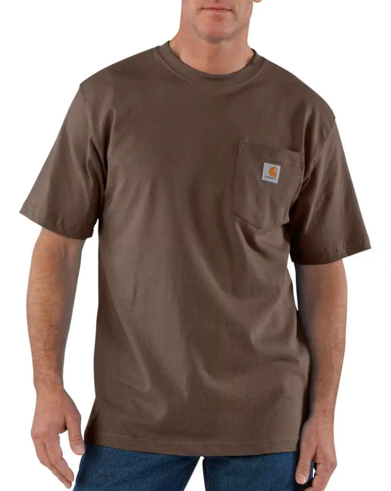 Carhartt Workwear Pocket Short Sleeve Shirt - Dark Brown