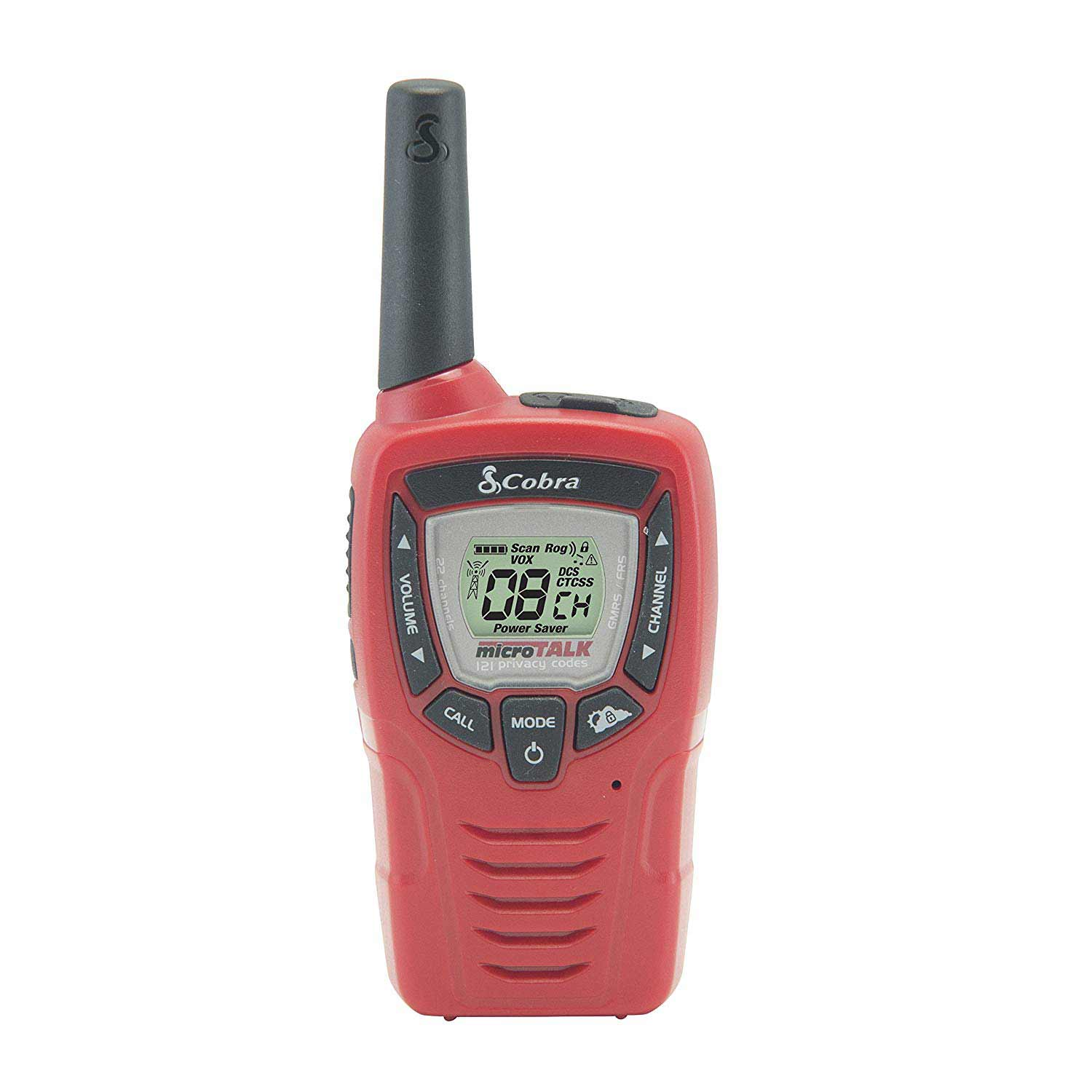 Cobra WR380 Emergency Weather Alert Radio, Red