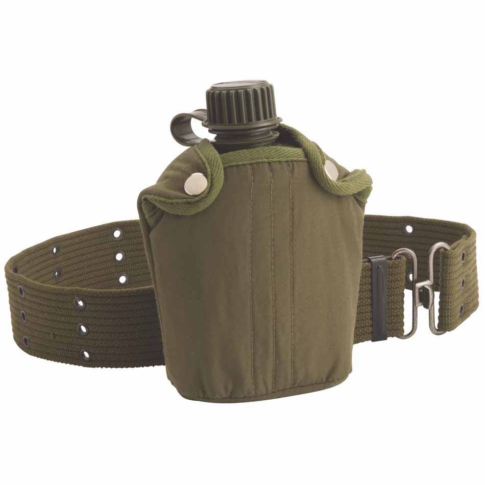 Coleman Military Style Canteen and Belt_1.jpg