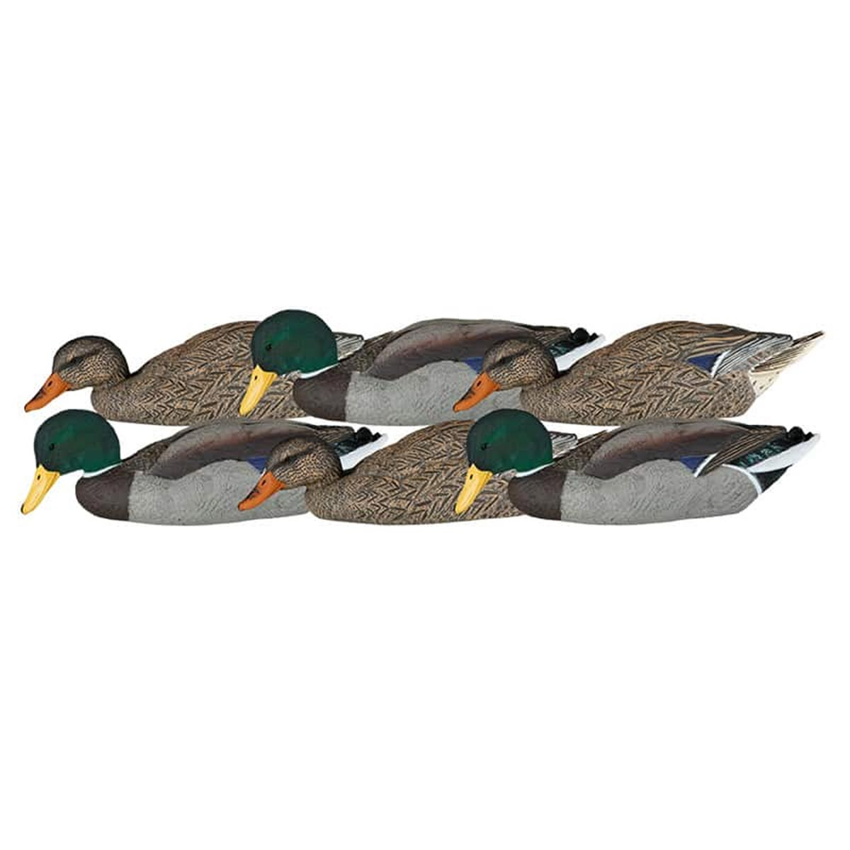 Dakota Decoy X-Treme Mallard Skimmer 6 Pack with Flocked Heads_1.jpg