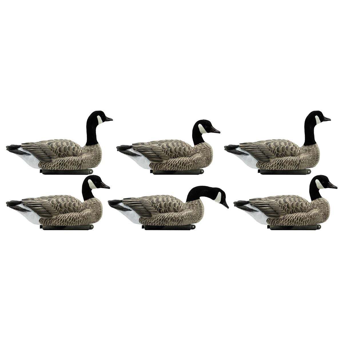 Dakota Decoys X-Treme Lesser Floater Decoys with Flocked Heads, 6-Pack