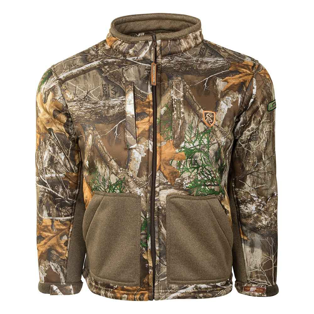 Drake Youth Silencer Full Zip Jacket with Agion Active XL_Realtree Edge.jpg