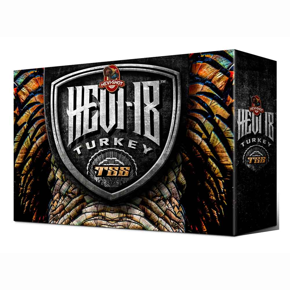 "Hevi-Shot Hevi-18 TSS Turkey Ammunition 20 Gauge 3"" 1-1/2 oz Non-Toxic Tungsten Super Shot, Box of 5"