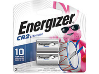 Energizer Battery CR2 3 Volt Lithium, Pack of 2