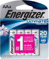 Energizer Lithium AA Batteries (4-Pack)