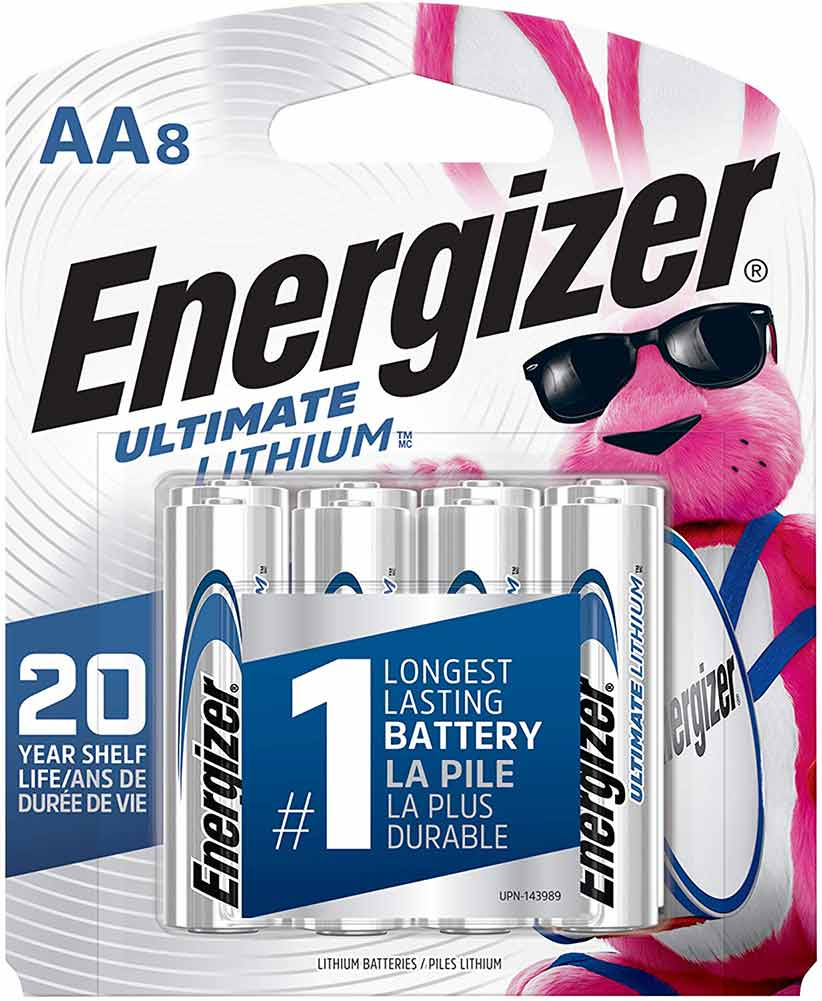 Energizer AA Lithium Batteries, 8 Pack