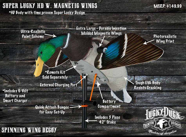 Lucky Duck Super Lucky HD with Magnetic Wings