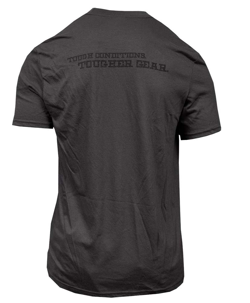 Final Approach Tough Conditions Logo Tee, Charcoal