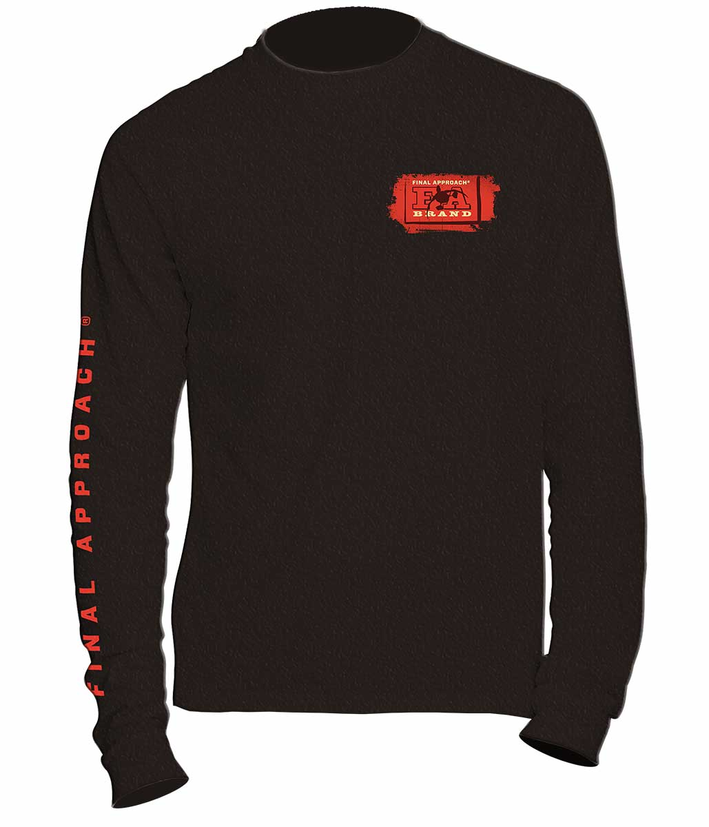 Final Approach The Waterfowlers Co LS Crew Shirt, Black
