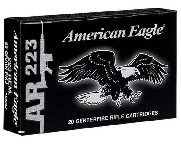 Federal American Eagle 223 Rem. Full Metal Jacket Boat-Tail, Box of 20