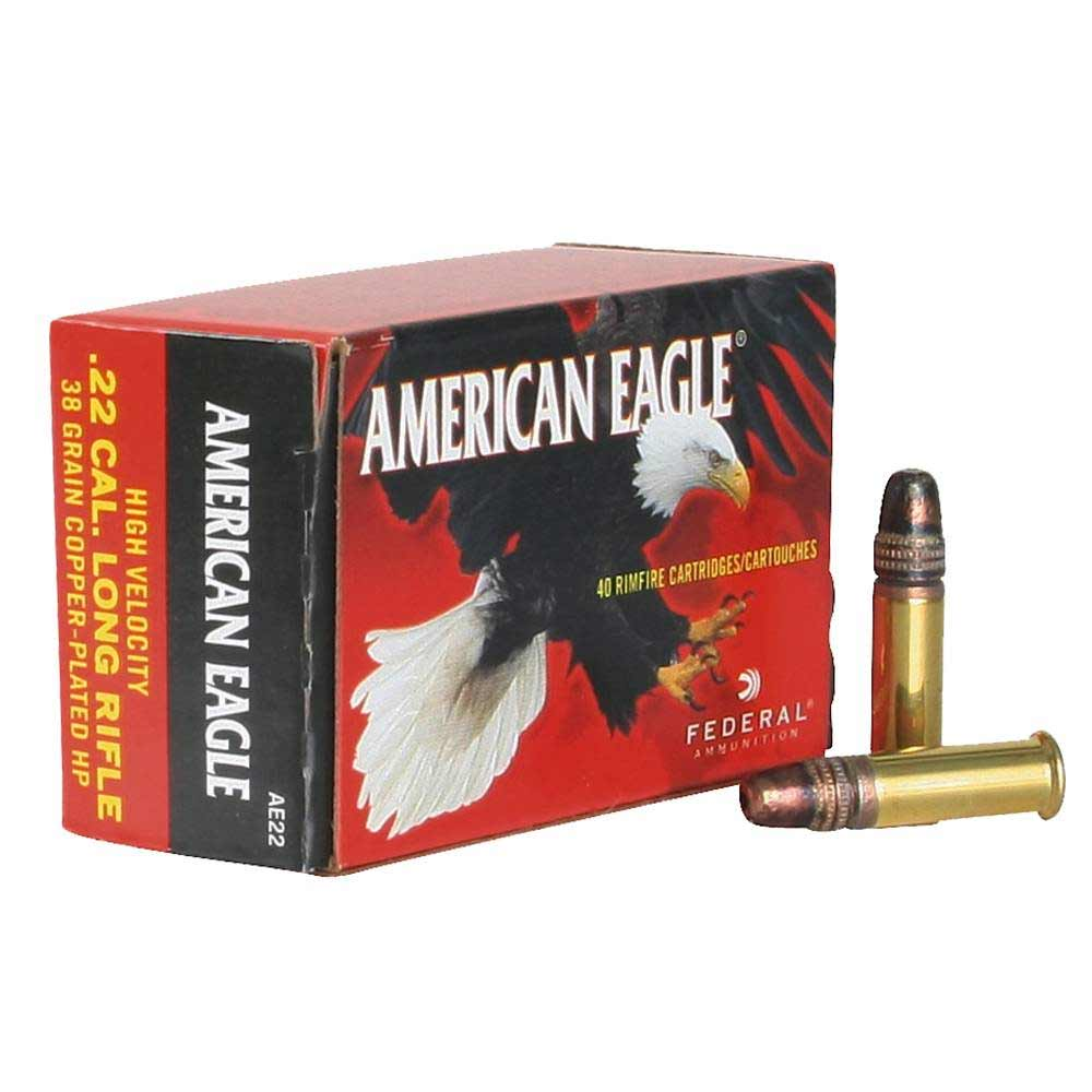 Federal American Eagle 22LR High Velocity 38 Gr 1280 FPS, Plated Lead Hollow Point, Box of 400_1.jpg