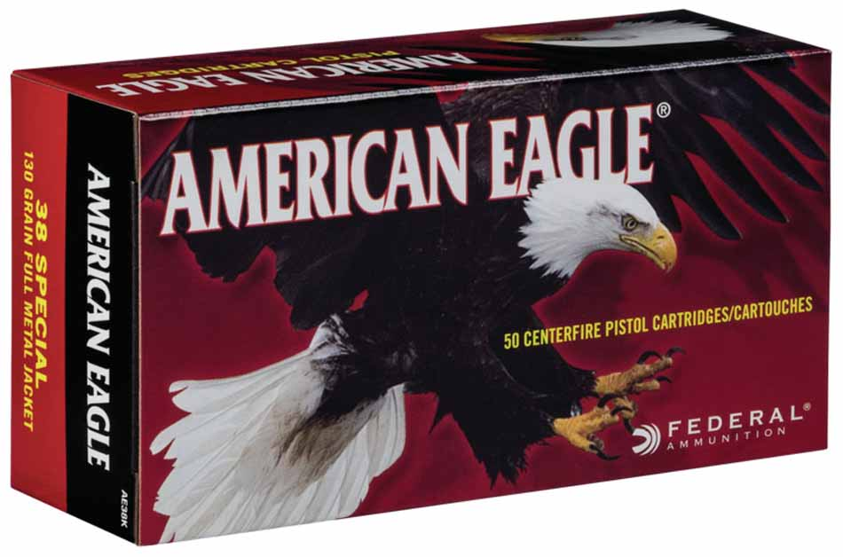 Federal American Eagle 38 Special 130 GR, Box of 50