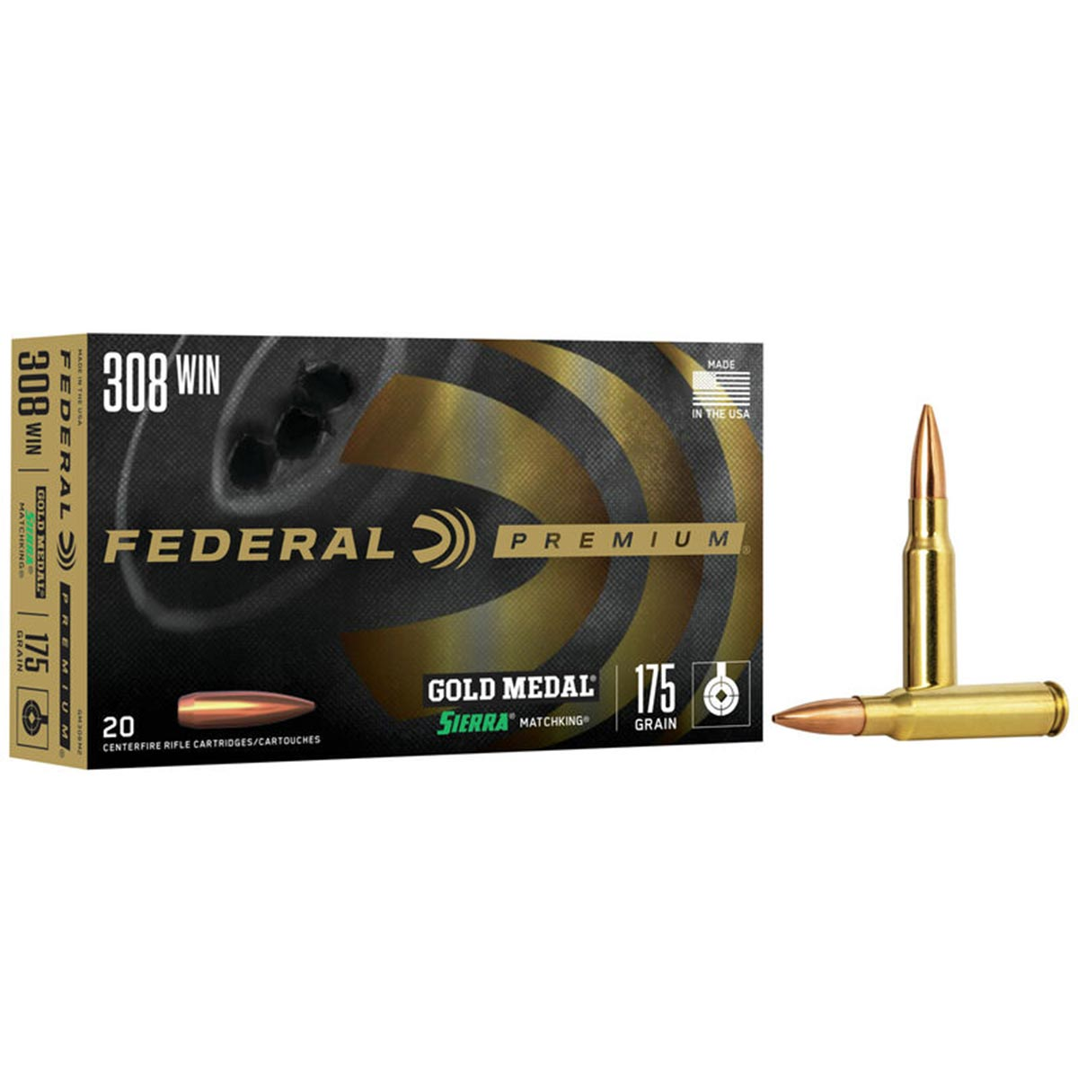 Federal Gold Medal Sierra MatchKing 308 Win 175 Grain 2600FPS Target Ammunition_1.jpg