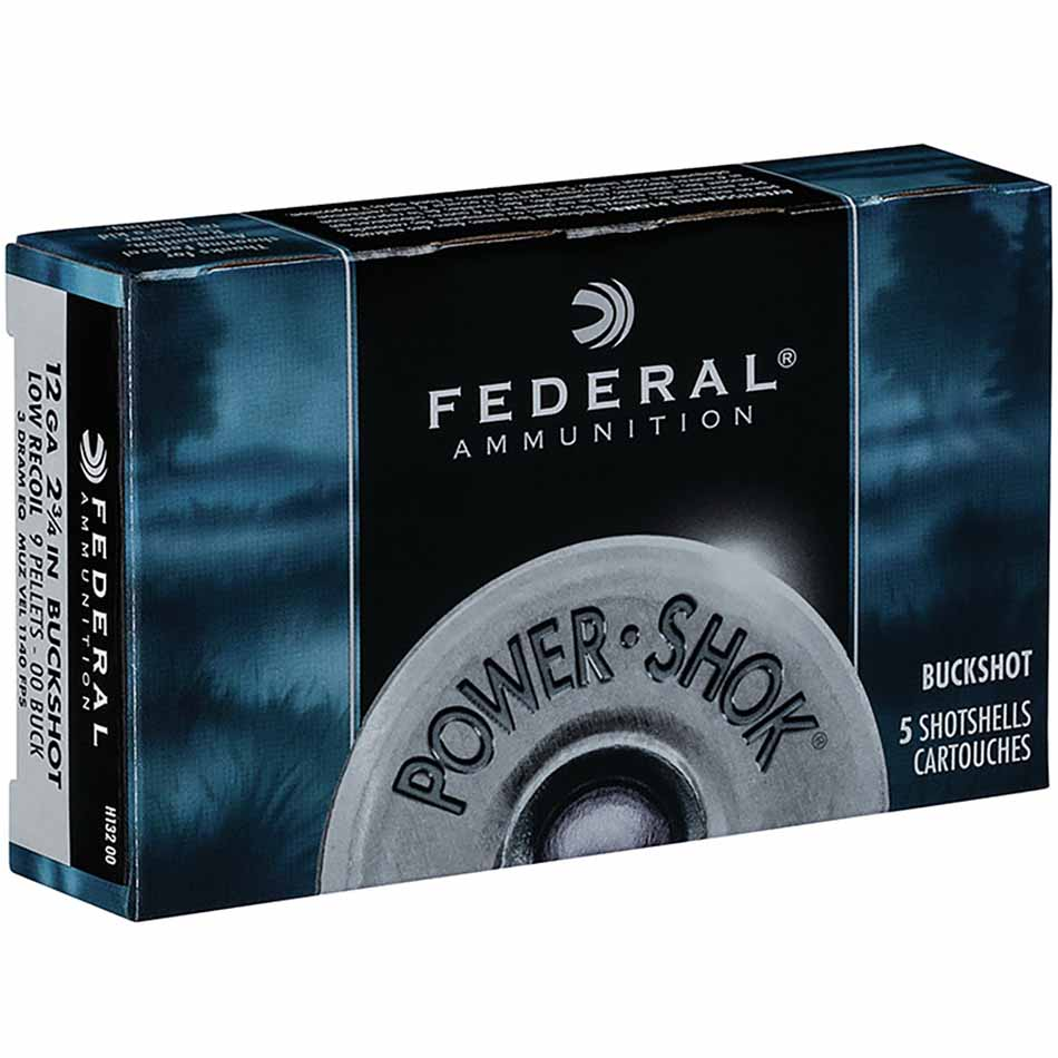 Federal 12 Gauge Power-Shok Buckshot - Low Recoil 70mm, Box of 5_1.jpg
