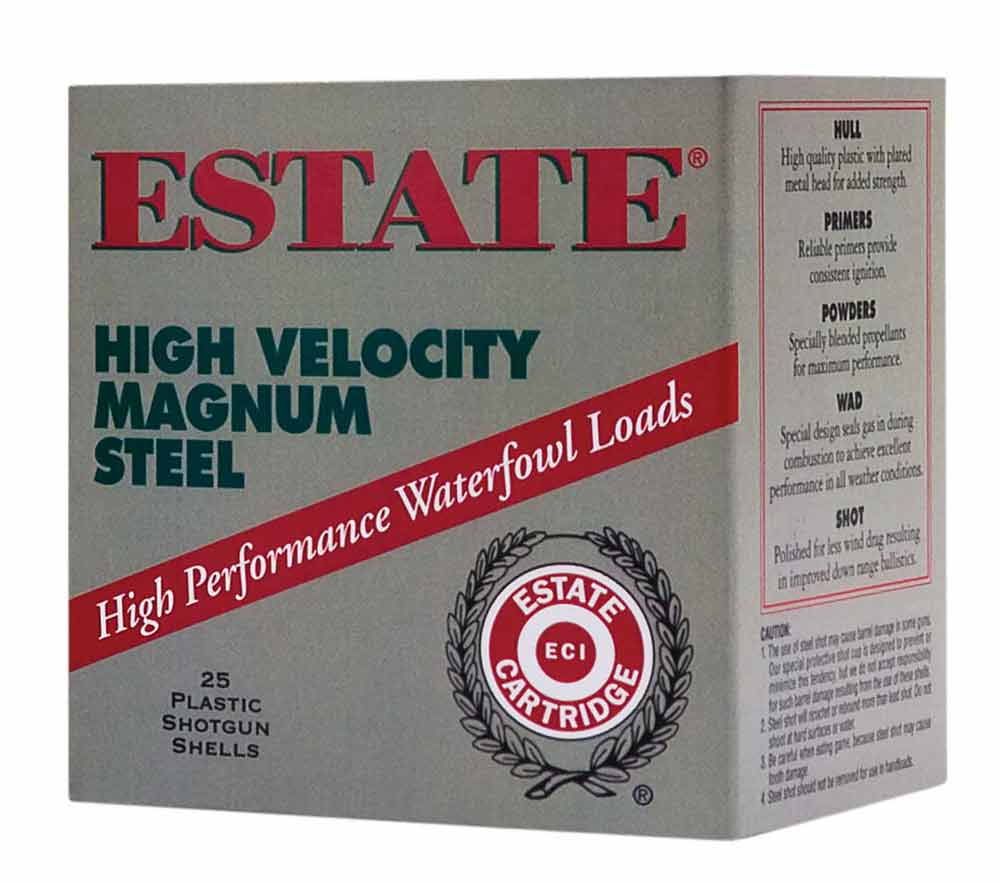 "Estate HVST1235SF High Velocity Magnum Steel, 12GA 3 1/2"" 1 3/8oz 1500FPS"