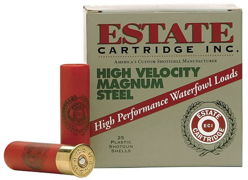 "Estate HVST12SM High Velocity Magnum Steel, 12GA 2 3/4"" 1 1/4oz 1400FPS"