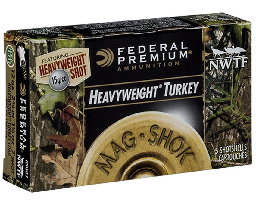"Federal Premium PHT154F Mag-Shok Heavyweight Turkey Shotshells, 12GA 2 3/4"" 1 1/4oz"