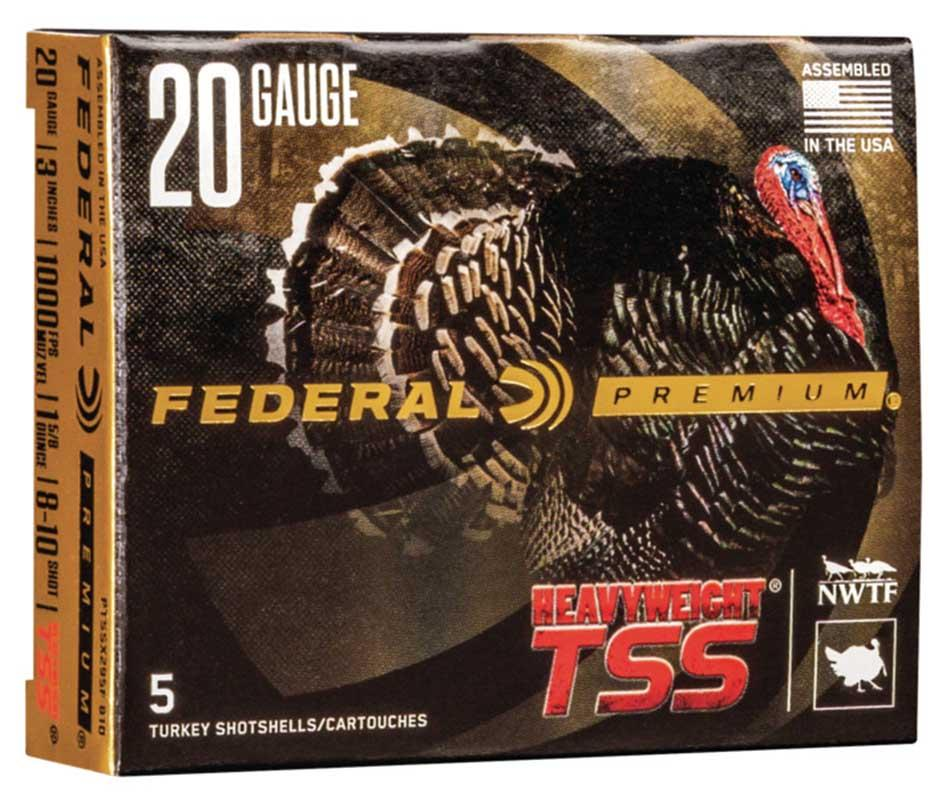 "Federal Premium PTSSX295F Heavyweight TSS Turkey Loads, 20 Gauge, 3"" 1 1/2oz 1100FPS"
