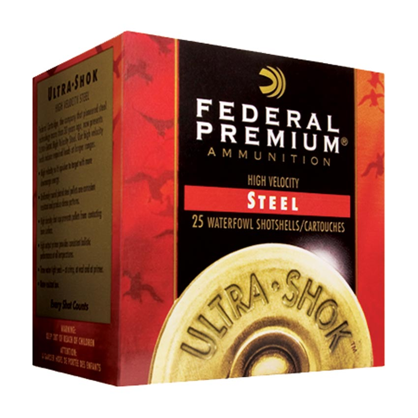 "Federal Premium High Velocity Steel Ultra Shok Waterfowl 12 Gauge 3"" 1 1/4oz 1450FPS"