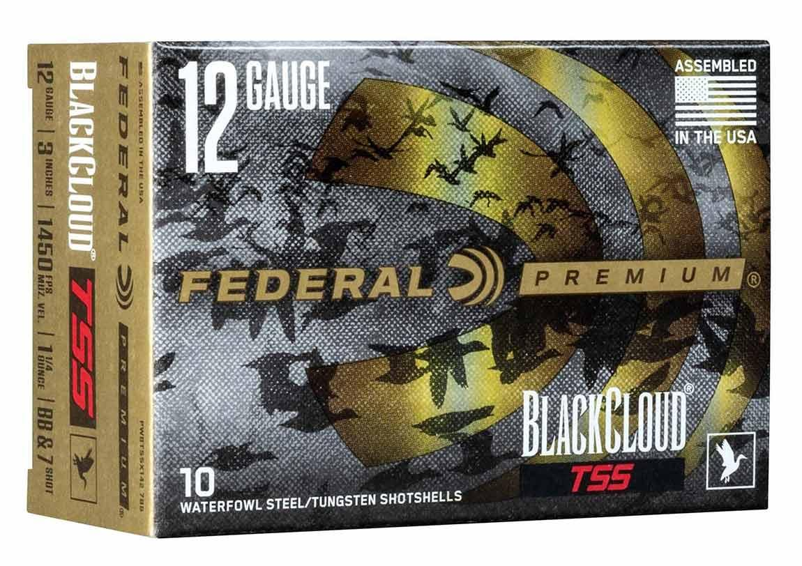 "Federal Premium BlackCloud TSS, 12GA 3"" 1 1/4oz 1450FPS BB&7, Box of 10"