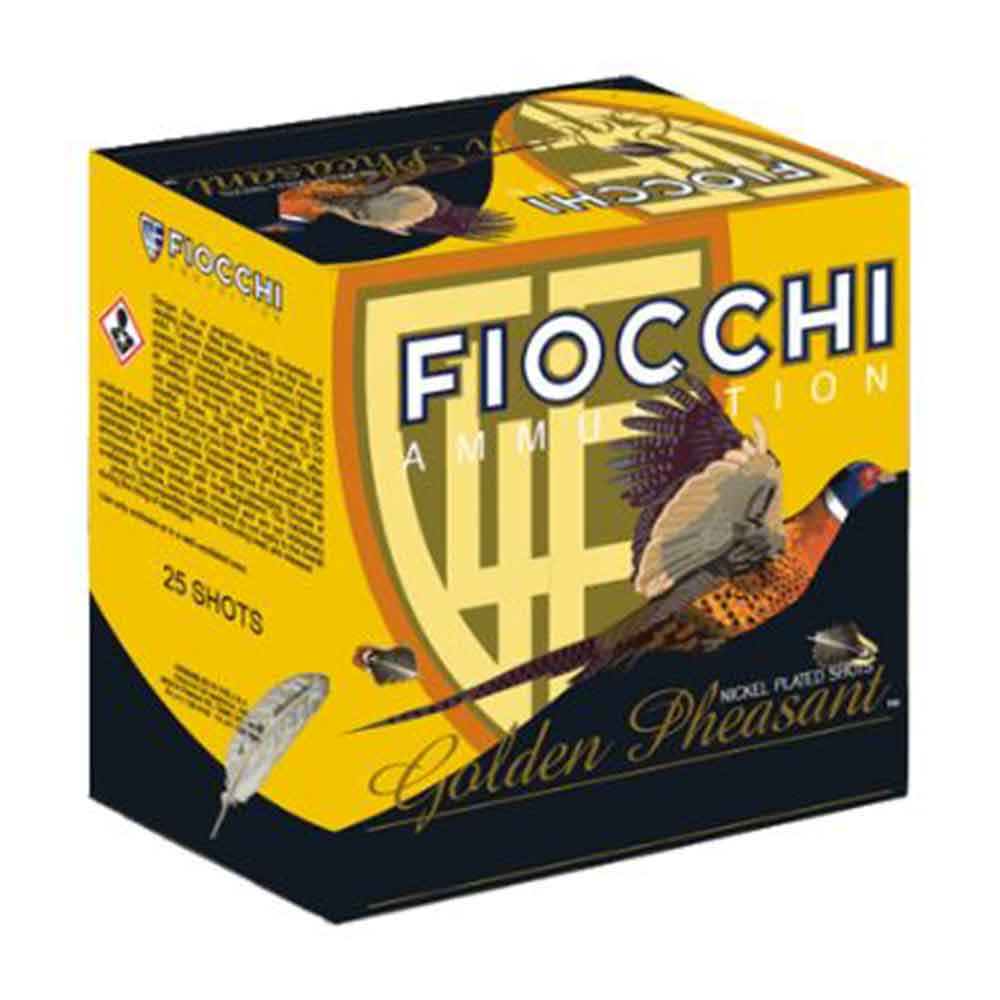"""Fiocchi Nickel Plated Lead Golden Pheasant, 20 Gauge 3"""""""