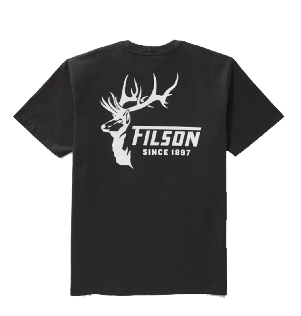 Filson Outfitter Graphic Short Sleeve Faded Shirt - Black